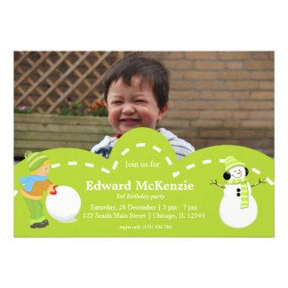 Winter birthday custom invitations