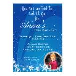 Winter Birthday Invitation with Picture 13 Cm X 18 Cm Invitation Card