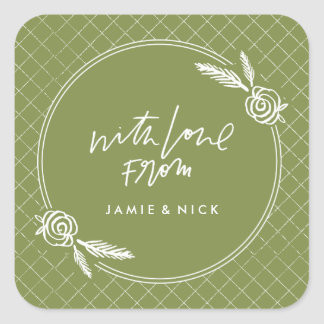Winter Bloom Sticker - Green
