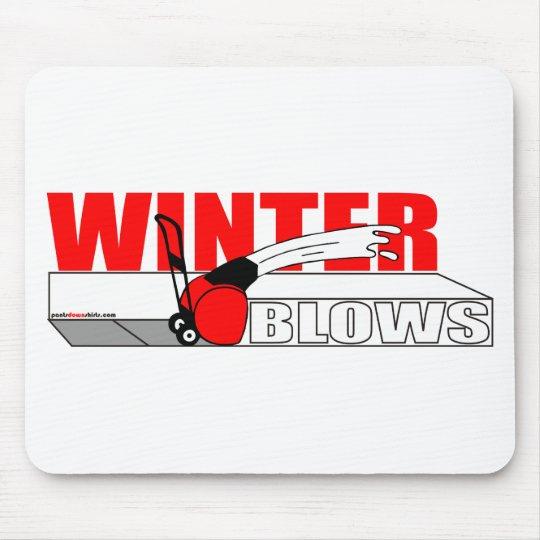 WINTER BLOWS MOUSE MAT