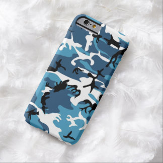 Winter Blue Camo Barely There iPhone 6 Case