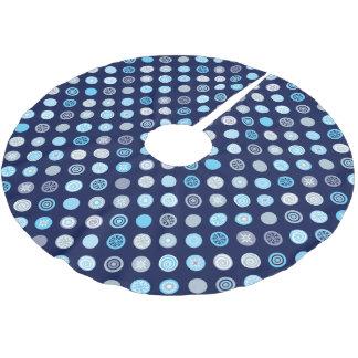 Winter Blue Dot Pattern Tree Skirt