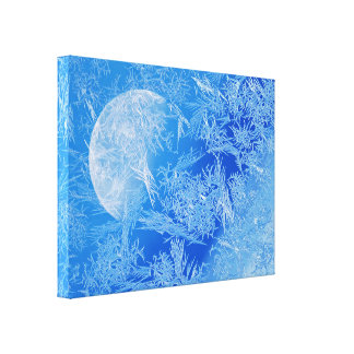 Winter Blue Moon Creative Photography Canvas Print