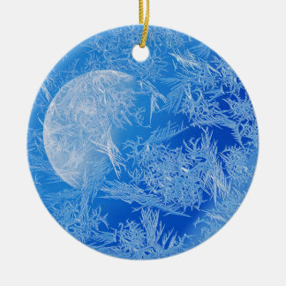 Winter Blue Moon Creative Photography Christmas Ornament