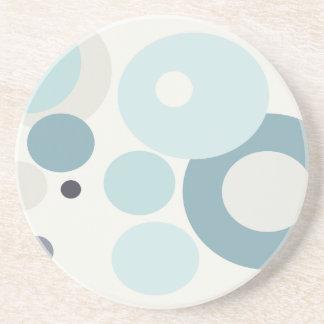 Winter Blues Polka Dots Beverage Coasters