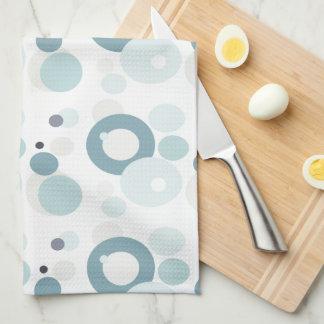 Winter Blues Polka Dots Tea Towel