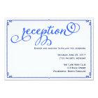 Winter Blues Wedding Reception Details Card