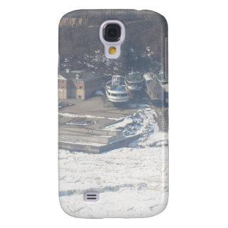 Winter boat dock scene galaxy s4 case