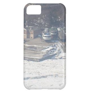 Winter boat dock scene iPhone 5C case