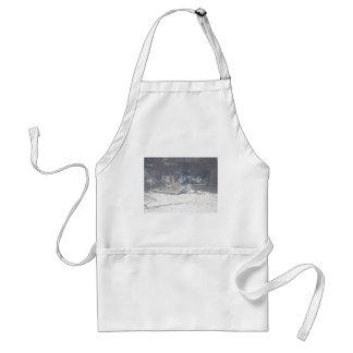Winter boat dock scene standard apron
