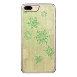 winter Bokeh green Carved iPhone 8 Plus/7 Plus Case