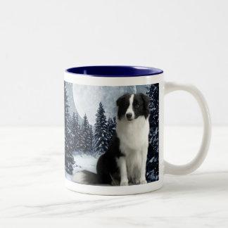 Winter Border Collie Mug