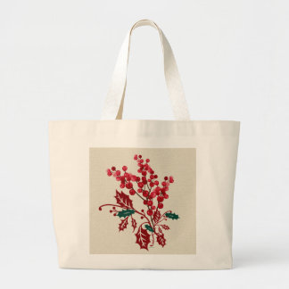 Winter Bouquet Large Tote Bag