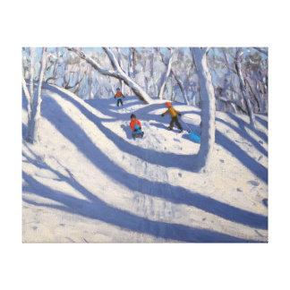Winter Bramcote Nottingham 2008 Canvas Prints