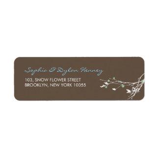 Winter Branch Snow Flower Wedding Address Labels