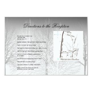 Winter Branches Black White Wedding Directions Custom Invite