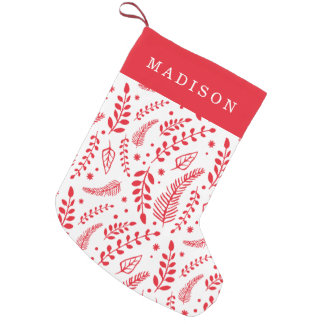 Winter Branches   Holiday Small Christmas Stocking