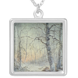 Winter Breakfast Silver Plated Necklace