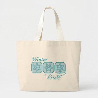 Winter Bride Large Tote Bag