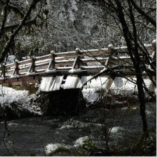 Winter Bridge Photo Cut Out