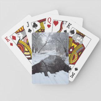 Winter Bridge Poker Deck