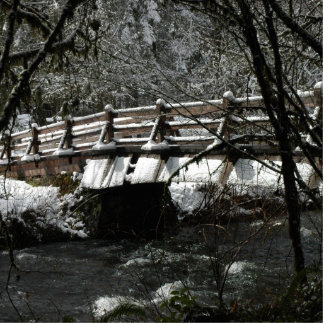 Winter Bridge Standing Photo Sculpture
