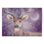 Winter Buck Fantasy Wildlife Holiday Card