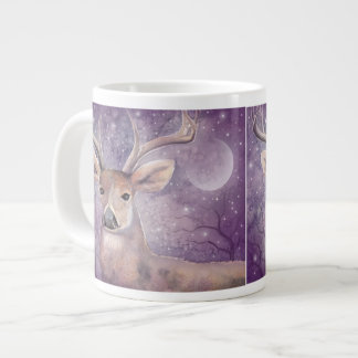 Winter Buck Wildlife Deer Art Large Coffee Mug