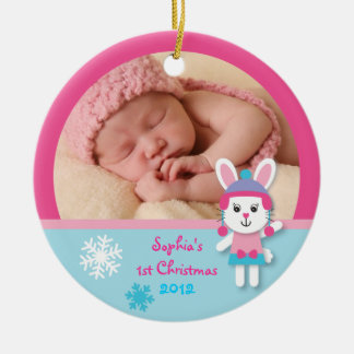 Winter Bunny Baby s First Christmas Ornament