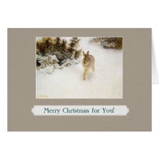 winter bunny greeting card