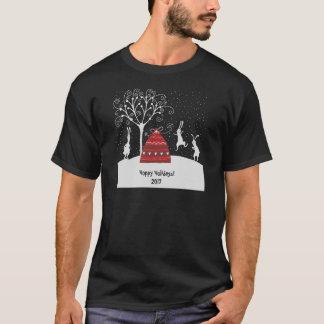 Winter Bunny Hoppy Holidays T-Shirt