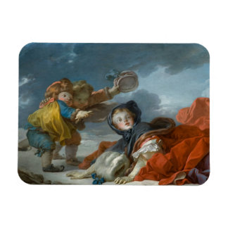 Winter by Jean-Honore Fragonard Magnet