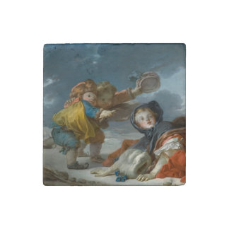 Winter by Jean-Honore Fragonard Stone Magnet