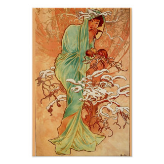 Winter by Mucha Poster