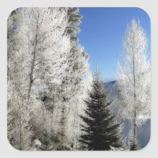 Winter by the Lake Square Sticker