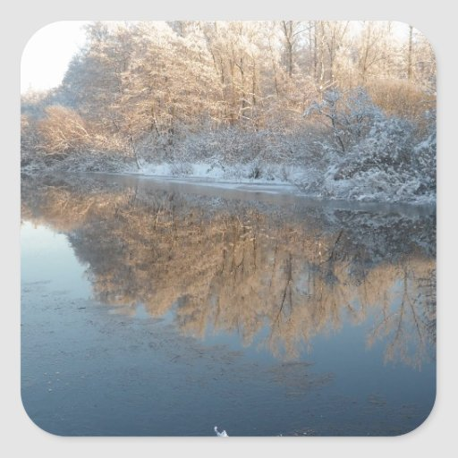 Winter by the River Sticker