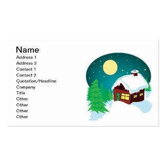 Winter Cabin Double-Sided Standard Business Cards (Pack Of 100)
