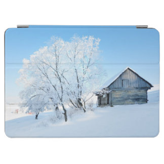 Winter Cabin Landscape iPad Air Cover