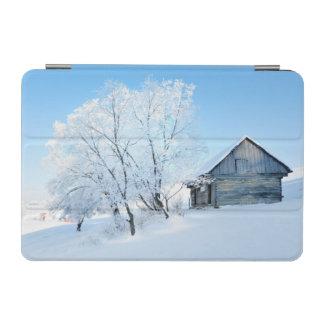 Winter Cabin Landscape iPad Mini Cover