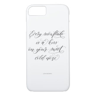 Winter Calligraphy iPhone 7 or 8 Case