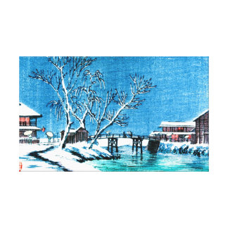 Winter Canal 1900 Stretched Canvas Print