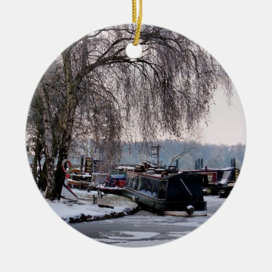 WINTER CANAL CHRISTMAS ORNAMENT