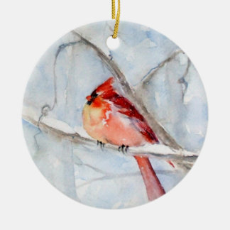 Winter Cardinal Holiday Ornament