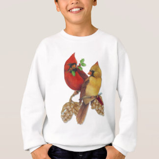 Winter Cardinals Pine and Holly Sweatshirt