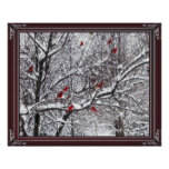 Winter Cardinals Poster