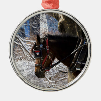 Winter Carriage Horse Christmas Ornament