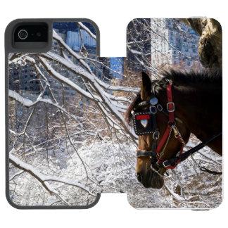 Winter Carriage Horse Incipio Watson™ iPhone 5 Wallet Case