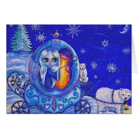Winter Carriage Ride Card