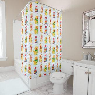 Winter Cats Shower Curtain