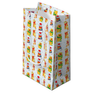 Winter Cats Small Gift Bag
